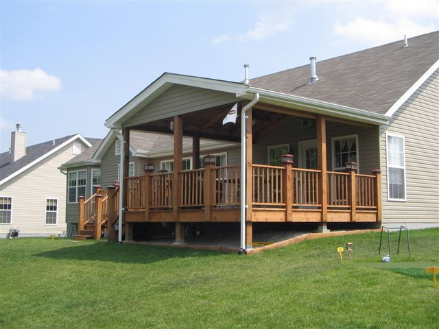 Decks, Patios & Roof Extensions | Northern Valley ... on Covered Back Deck Ideas id=39253